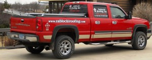 parked truck with ladder-Zablocki Roofing - About Us